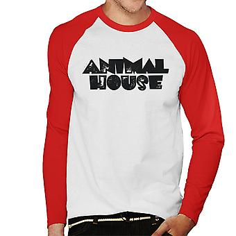 Animal House Black Logo Men's Baseball Long Sleeved T-Shirt