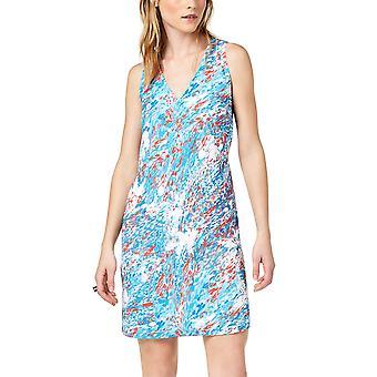 Bar III | Varsity Garden V-Neck Sleeveless Dress