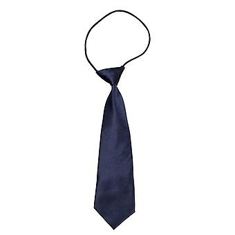 Solid Blue Neck Tie, Polyester Kids