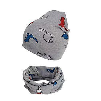 Jesenná a zimná dinosaurus dieťa dieťa / čiapka, Beanie Bonnet golier šatka set