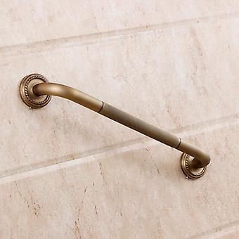 Antique Brass Single Bathroom Bathtub Handrails Hotel Wall Mounted Garb Bars