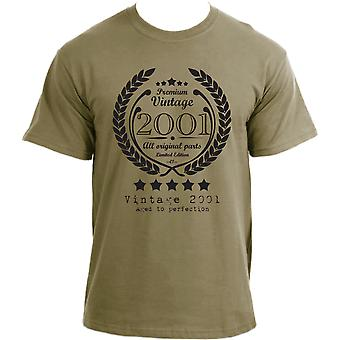 Premium Vintage 2001 Aged to Perfection Limited Edition Birthday Present Mens t-shirt