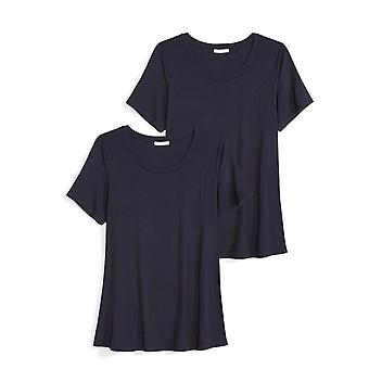 Daily Ritual Women's Plus Size Jersey Short-Sleeve Scoop Neck Swing T-Shirt, ...