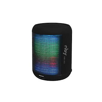 NBY Small Sound activate LED Light BluetoothSpeaker Music&Dancing Fountain,Black