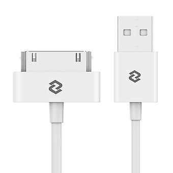 Jetech usb sync and charging cable for apple iphone 4/4s, iphone 3g/3gs, ipad 1/2/3, ipod (white) wh