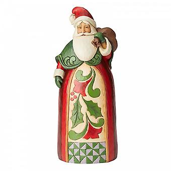 Jim Shore From The Heart Santa With Bag Statue