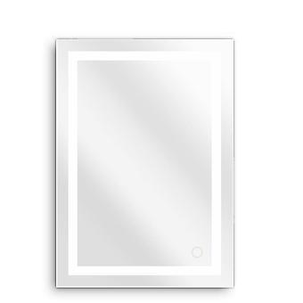 anti tåke skjønnhet makeup ledet speil, hjem rektangulære bad speil, hvit led