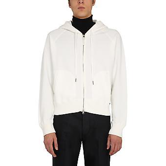 Tom Ford Bv265tfj986n01 Men's White Cotton Sweatshirt
