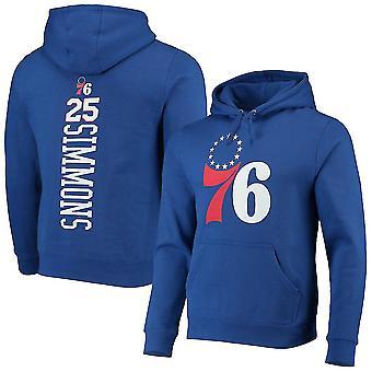 Philadelphia 76ers 25 Simmons Loose Pullover Hoodie Sweatshirt WY303