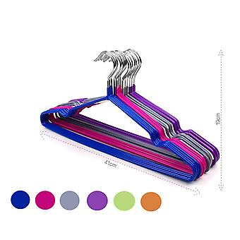 10pcs Colorful Rubber &Stainless Steel Hangers For Clothes Pegs Antiskid Drying Clothes Rack Non Slip Hanger Outdoor Drying Rack