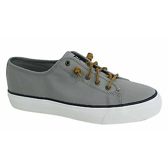 Sperry Sky Sail Lace Up Womens Grey Canvas Plimsolls Trainers STS99190 B12C