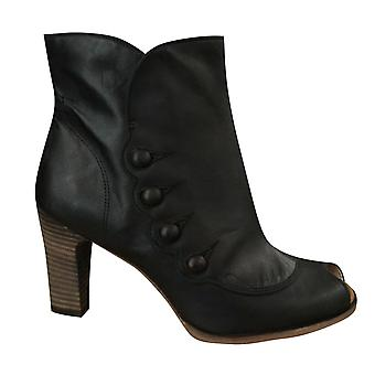 Timberland Marge Peep Toe Zip Up Womens Heel Boots Brown 25684 B5E