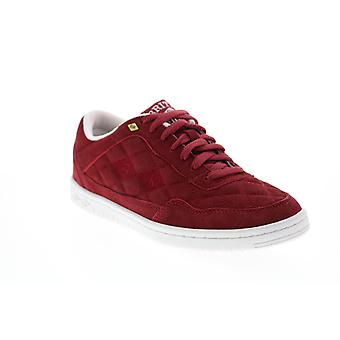 British Knights Quilts  Mens Red Suede Lifestyle Sneakers Shoes
