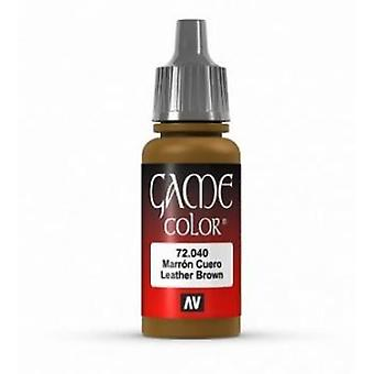 Vallejo Game Color 17ml Acrylic Paint 40 Leather Brown (ex Cobra Leather)
