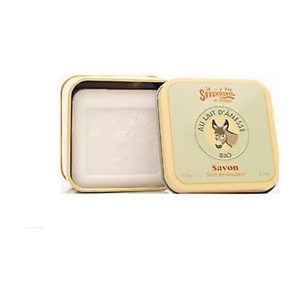 Soap Metal tin Organic Donkey Milk 100 g