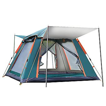 Outdoor camping tent, automatic tent pop-up tent, with 4 large mesh windows, waterproof and windproof