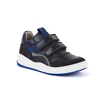 FRODDO G3130165 Trainer Style Leather Shoe With Double Velcro