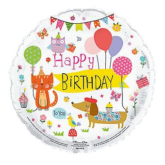 Simon Elvin 18 tums födelsedagen djur folie ballong