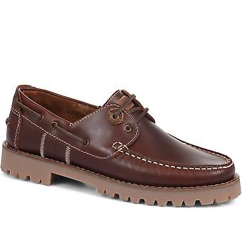 Barbour Mens Stern Leather Boat Shoes