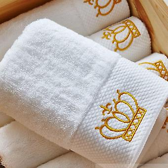 Crown Embroidery Cotton Hotel Towel Set
