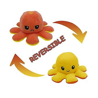 Double-sided Two-color Flip Octopus Plush Toys, Mini Plush Toys With Vivid Expressions