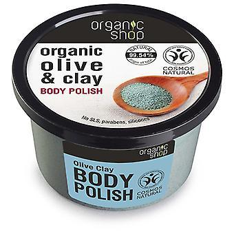 Organic Shop Exfoliante Corporal de Arcilla de Oliva 250 ml