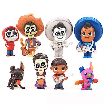12szt Zestaw figur Snoopy Coco Cute Toy Doll Anime Collection