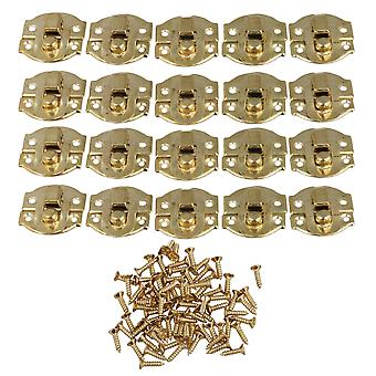 20pcs gul metall hengelås hasp smykker boks spenne sjakkel lås 21 x 20mm