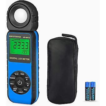 Digitale Luxmeter AP-881DBlau Digitale Luxmeter Umgebungstemperaturmessung mit einer Reichweite von