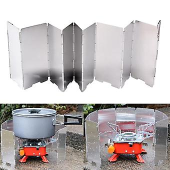 Strong Wind Shield Deflector, Folding Windscreen Guard, Outdoor Camping,
