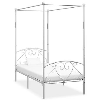 vidaXL Himmelbett-Gestell Weiß Metall 100 x 200 cm