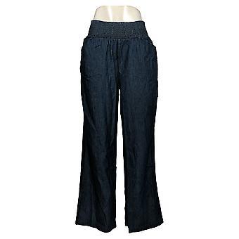 DG2 af Diane Gilman Women's Pants Smocked Palazzo Blue 656627