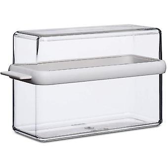 FengChun Knckebrotdose Stora wei & Transparent und passend fr ein Packung Knckebrot, SAN/TPE, 9 x