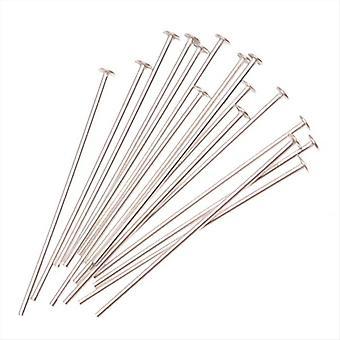 Hoofdpennen, 1 inch lang en 22 gauge dik, 20 stuks, sterling zilver