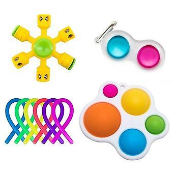9pcs Pack Fidget Toys Sensory Toy Set Antistress Relief Fidget Toys