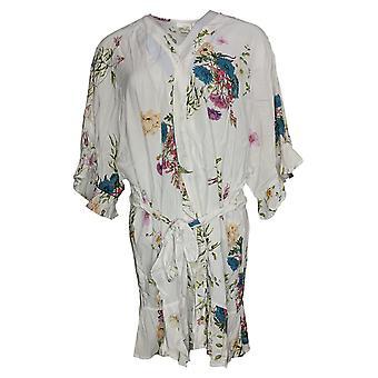 Plum Pretty Sugar Women's Floral Flutter Robe Wit A446766
