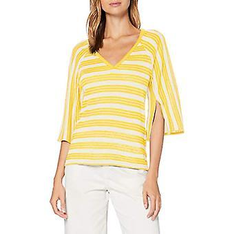 United Colors of Benetton 3OC1E4240 Maglieta, Yellow Stripes 9n7, M Donna