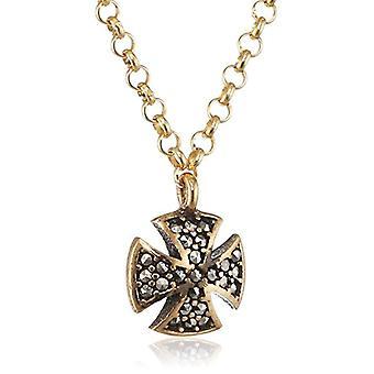 MISIS Women's Silver Artificial Necklace 925 Marcasite Enamel 46 cm - CA07764