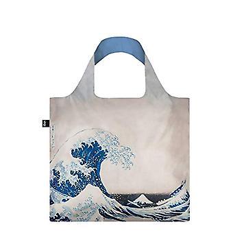 LOQI Museum Hokusai The Great Wave Bag Beach Bag, 50 cm, 20 liters, Multicolored (Multicolour)