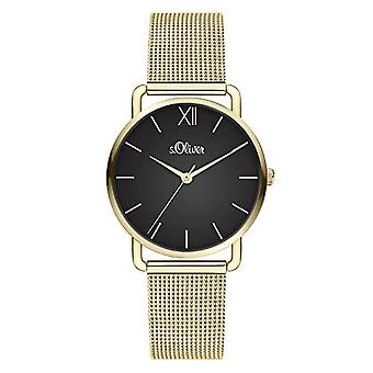 s.Oliver Women's Analog Quartz Watch with Stainless Steel Strap SO-4151-MQ