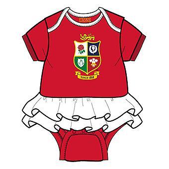 Brittiläiset & irlantilaiset lionit Rugby Baby Girls Tutu | Punainen | 2021 | 3-6 kuukautta