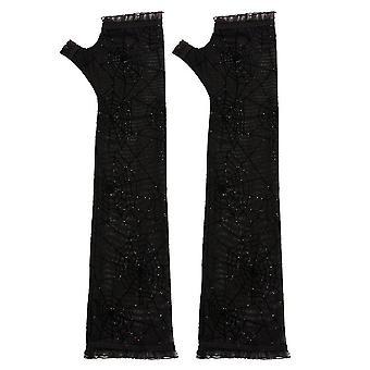 Gothique Fingerless Halloween Punk Rock Long Gants