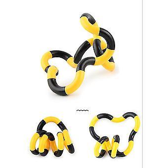 2 Stücke gelb und schwarz Vielfalt Drehen Kreis Wicklung spielen Dekompression Spielzeug Erwachsenen Dekompression Spielzeug az4304