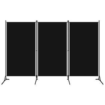 Kamerscherm Met 3 Panelen 260X180 Cm Zwart