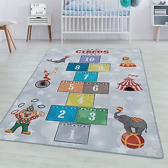 Børneværelse tæppe SPIL kort bunke børns tæppe spille tæppe cirkus klovn løve