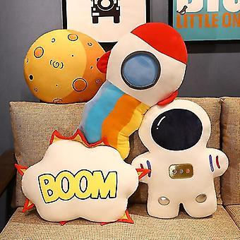 Creative Stuffed Pillow Space Astronaut Plush Toys Funny Simulation Bomb Mars Aviation Cushion for