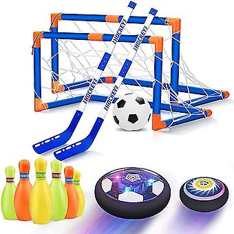 Floating Football Toys Kit Air Power Soccer Disc Hovering Football Game Light Toy Flashing Ball Toys
