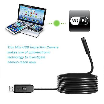 2m 6 Led Usb Waterproof Endoscope Borescope Snake Inspection Video Camera 7mm