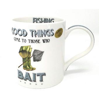 Fishing Fine China Mug By Lesser & Pavey