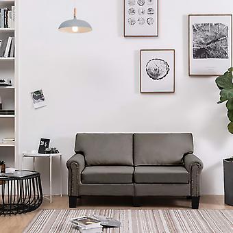 vidaXL 2-Sitzer-Sofa Taupe Stoff